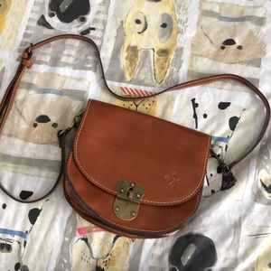 Patricia Nash Leather Saddlebag Crossbody Purse